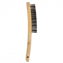 4 ROW WIRE SCRATCH BRUSH FOR STAINLESS STEEL