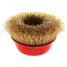 100MM CRIMPED WIRE CUP BRUSH M14 THREAD