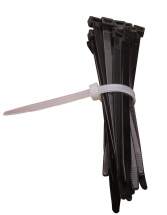 7.8 X 365MM BLACK CABLE TIES