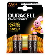 LR03/AAA DURACELL BATTERIES PACK OF 4