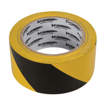 HAZARD TAPE YELLOW/BLACK 50MM X 33 MTR