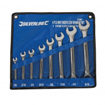 8PCE WHITWORTH COMBINATION SPANNER SET