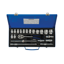 21PCE 1/2inch SQ DRIVE SOCKET SET METRIC