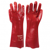 400MM RED PVC GAUNTLETS