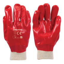 SIZE 9 RED PVC COATED GLOVE